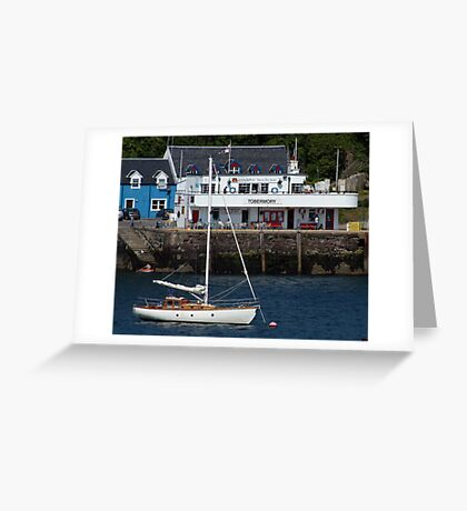 Tobermory Pier Greeting Card