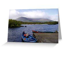 Ireland,  Boats on blue lake to Innisfallen Island  Greeting Card