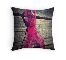 Support Breast Cancer  Throw Pillow