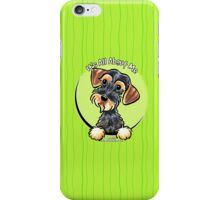 Wild Boar Wirehaired Dachshund :: It's All About Me iPhone Case/Skin