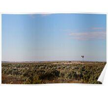 Windmill at Lake Mungo Poster