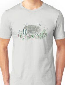 Badger In Grass Unisex T-Shirt