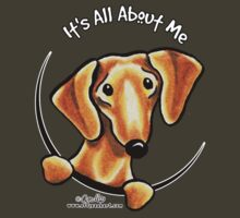 Smooth Red Dachshund :: It's All About Me by offleashart