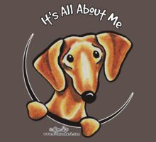 Smooth Red Dachshund :: It's All About Me One Piece - Short Sleeve