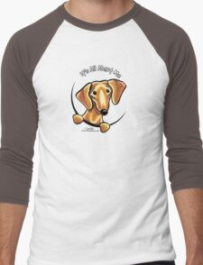 Smooth Red Dachshund :: It's All About Me Men's Baseball ¾ T-Shirt
