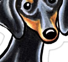 Smooth Black/Tan Dachshund :: It's All About Me Sticker