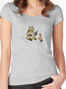 Bear & Fox Women's Fitted Scoop T-Shirt
