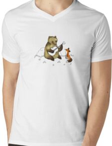 Bear & Fox Mens V-Neck T-Shirt