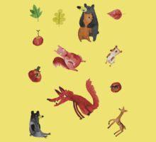 Woodland Sticker Sheet Baby Tee