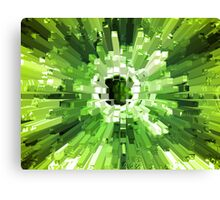 Extrusion Abstract Lime Green Canvas Print