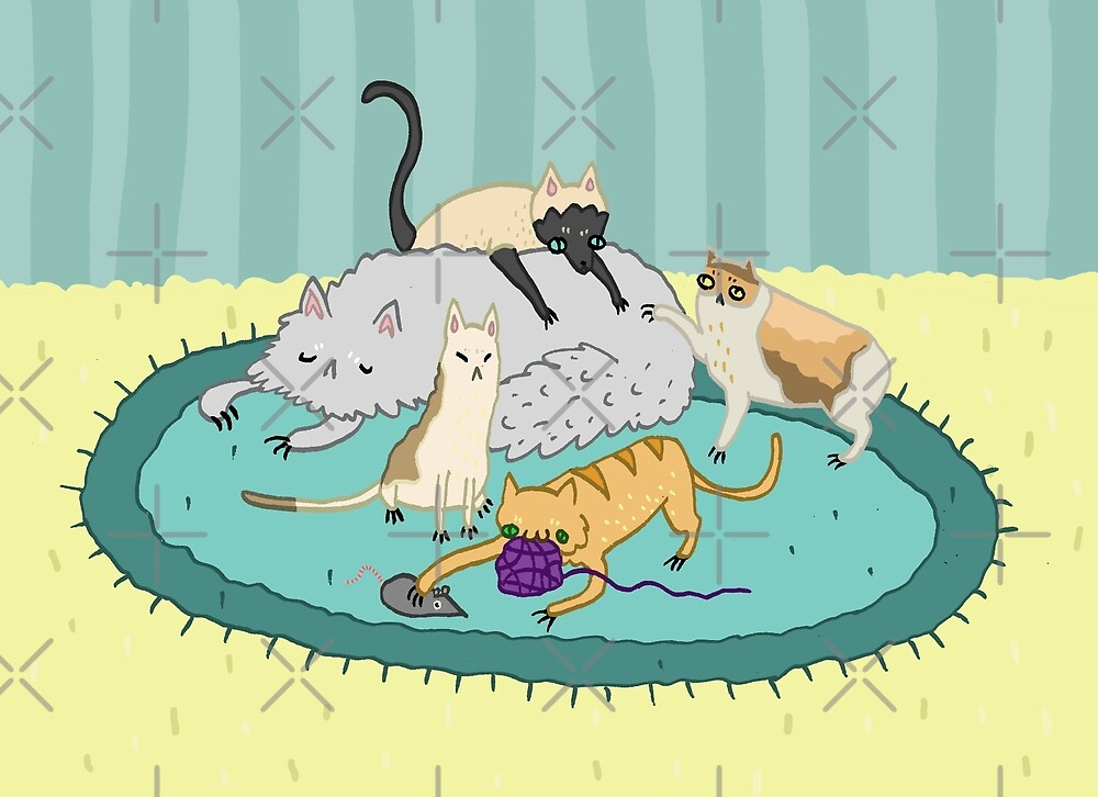 Caturday Pile by Sophie Corrigan