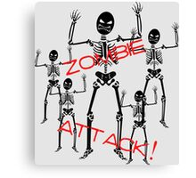 Zombie Skeletons Attack! Canvas Print