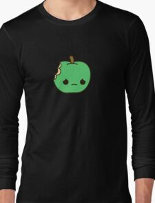 Cute sad apple Long Sleeve T-Shirt