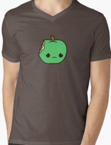 Cute sad apple Mens V-Neck T-Shirt