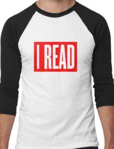 I READ BOOKS Men's Baseball ¾ T-Shirt