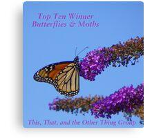 Top Ten Banner for Challenge Winners - Butterflies Canvas Print
