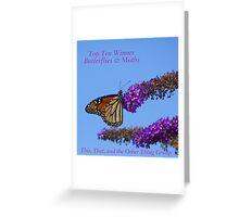 Top Ten Banner for Challenge Winners - Butterflies Greeting Card