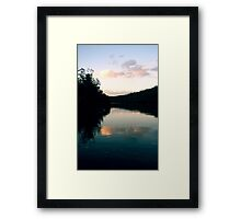 The river Framed Print
