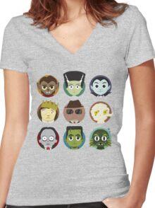 Little Monsters Women's Fitted V-Neck T-Shirt