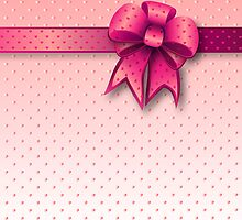 Card Pink Bow by Medusa81