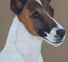 Fox Terrier Vignette by Anita Meistrell Putman