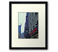 Ed Sullivan Theatre, The Late Show Sign, Broadway NYC Framed Print