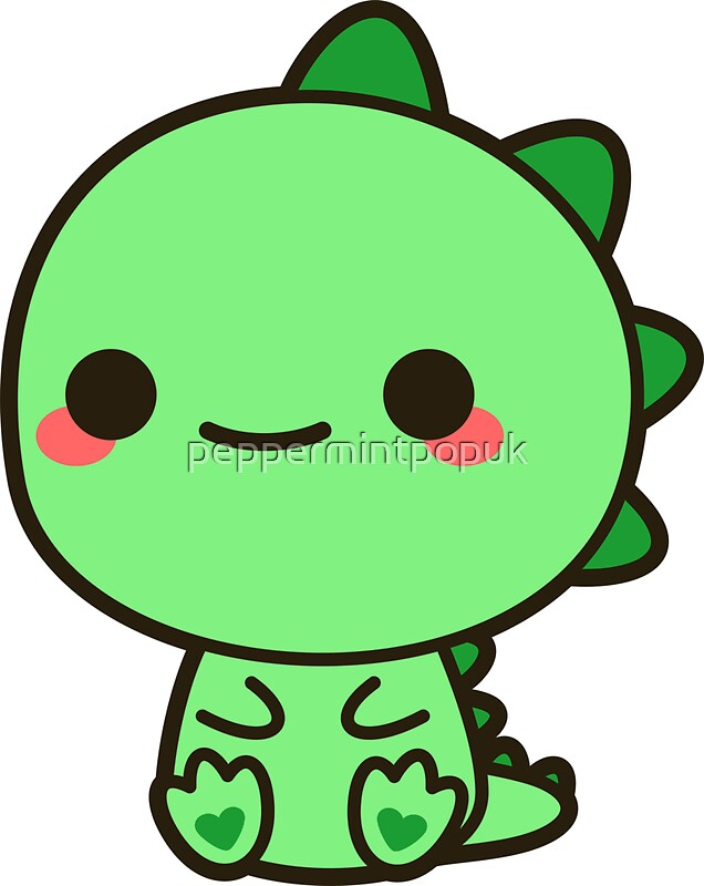 Quot Kawaii Dinosaur Quot Stickers By Peppermintpopuk Redbubble