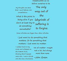 John Green Quotes iPhone Cover by SamDinga96
