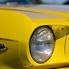 Yellow Mustang - Light up 289 by Norman Repacholi
