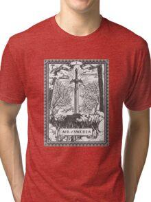 Vintage Legend of Zelda Master Sword Tarot Tri-blend T-Shirt