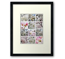 Cherry Blossoms Montage 1 Framed Print