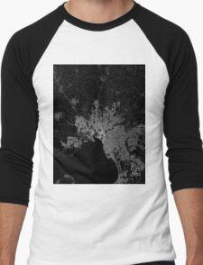 Melbourne map Australia Men's Baseball ¾ T-Shirt