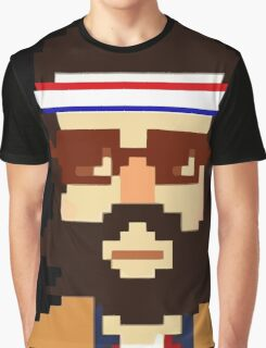 First Hipster - Awesome 8 bit design Graphic T-Shirt