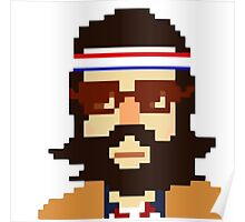 First Hipster - Awesome 8 bit design Poster