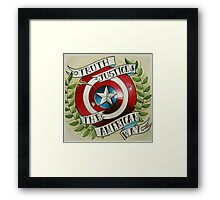 Truth & Justice Framed Print