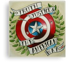 Truth & Justice Canvas Print