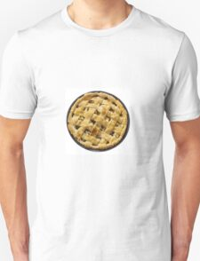 Apple pie isolated on white Unisex T-Shirt