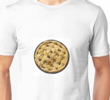 Apple pie isolated on white Unisex T-Shirt