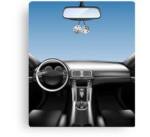 Car Auto Dashboard Canvas Print