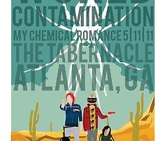 World Contamination Atlanta Poster by phosphone