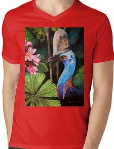 Southern Cassowary  (Hung.. Mall Gallery London) Mens V-Neck T-Shirt