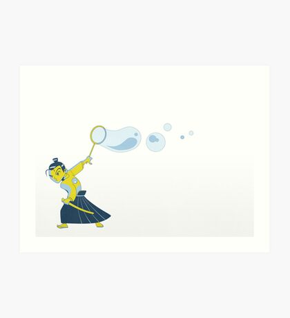 Bubble Samurai Art Print