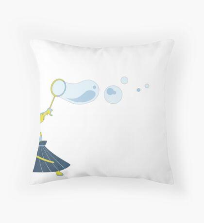Bubble Samurai Throw Pillow