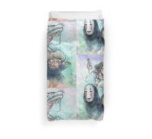 Spirited Away Miyazaki Tribute Watercolor Painting Duvet Cover
