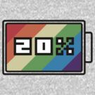 Rainbow Dash 20% Battery by ZincSpoon