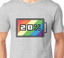 Rainbow Dash 20% Battery Unisex T-Shirt