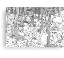 Diurnal Animals of the Forest Canvas Print