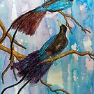 Birds of Paradise in Blue by Alexandra Felgate