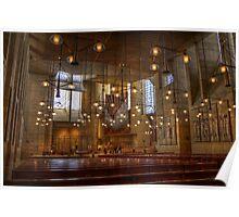 LA Cathedral Interior Poster