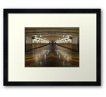 To the Trains Framed Print